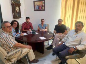 Reunión de alcaldes, Mancomunidad y CHARE de Constantina