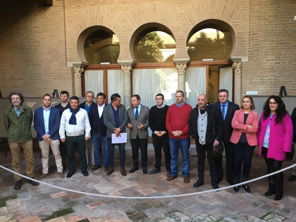Los Alcaldes mantienen una reunión en Delegación del Gobierno para tratar el problema de los cortes de luz
