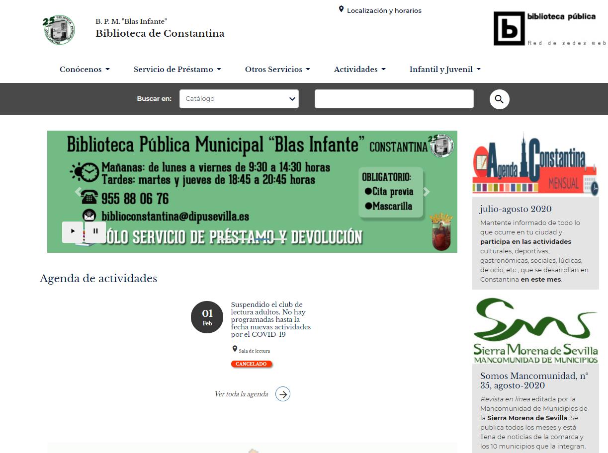 La Biblioteca de Constantina estrena nueva web